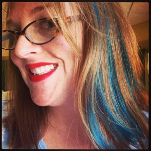 A few blue streaks. Because it makes me happy.